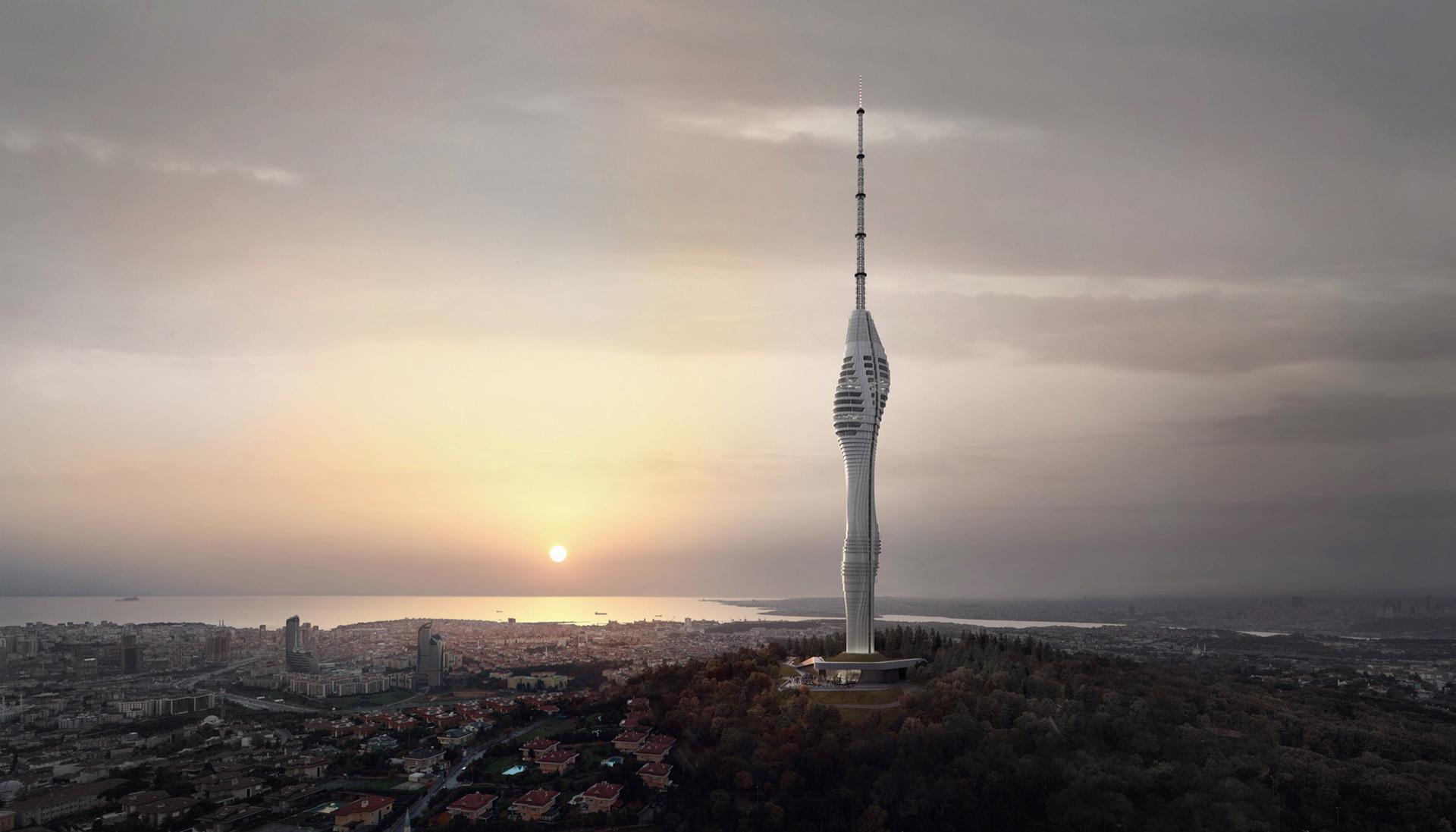Телебашня в Стамбуле фото