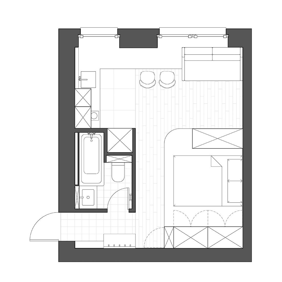 Планировка квартиры 25 кв метров фото
