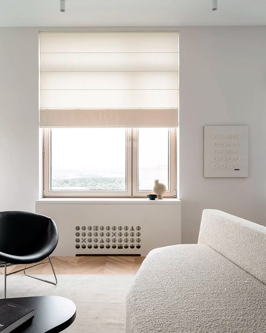 дизайн квартиры в белых тонах фото