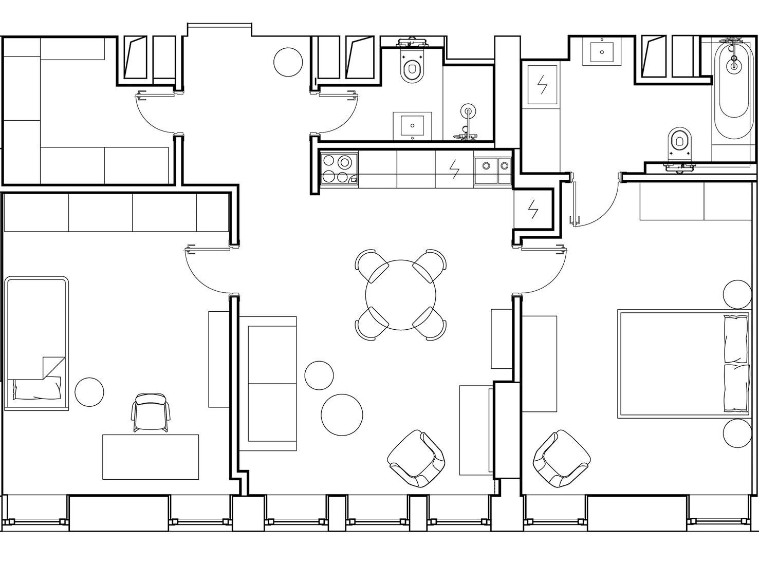 Планировка квартиры 70 кв метров фото