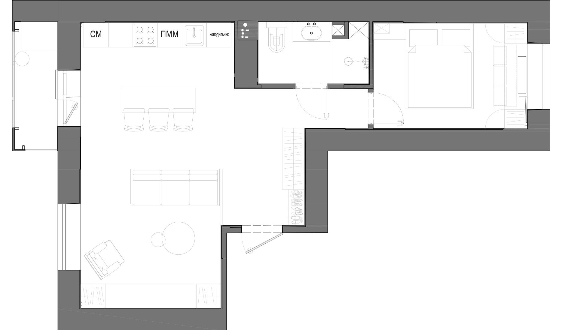 Планировка квартиры 50 кв м фото