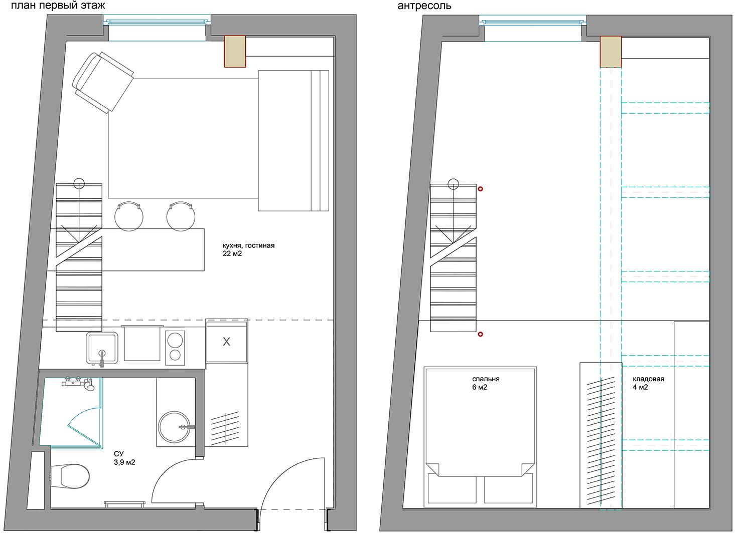 Планировка квартиры 27 кв метров фото