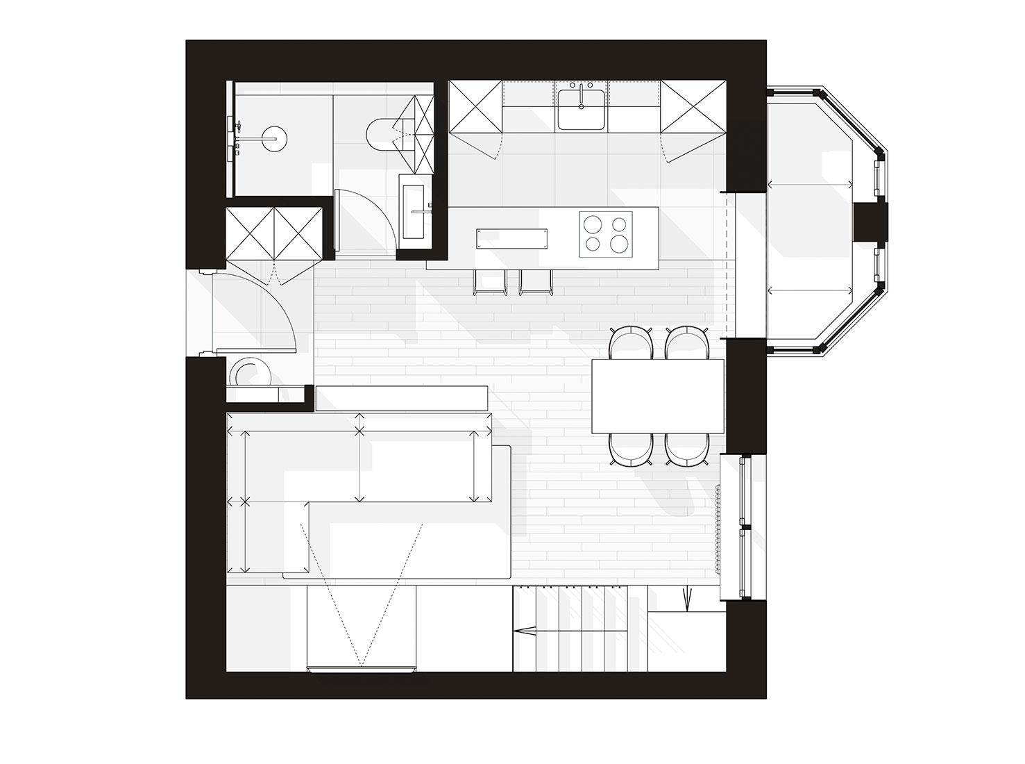 Планировка двухуровневой квартиры фото