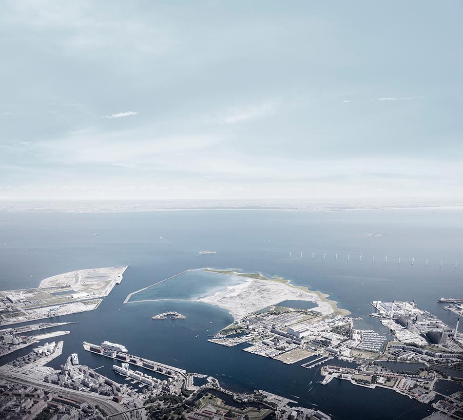 Искусственный остров в Копенгагене фото