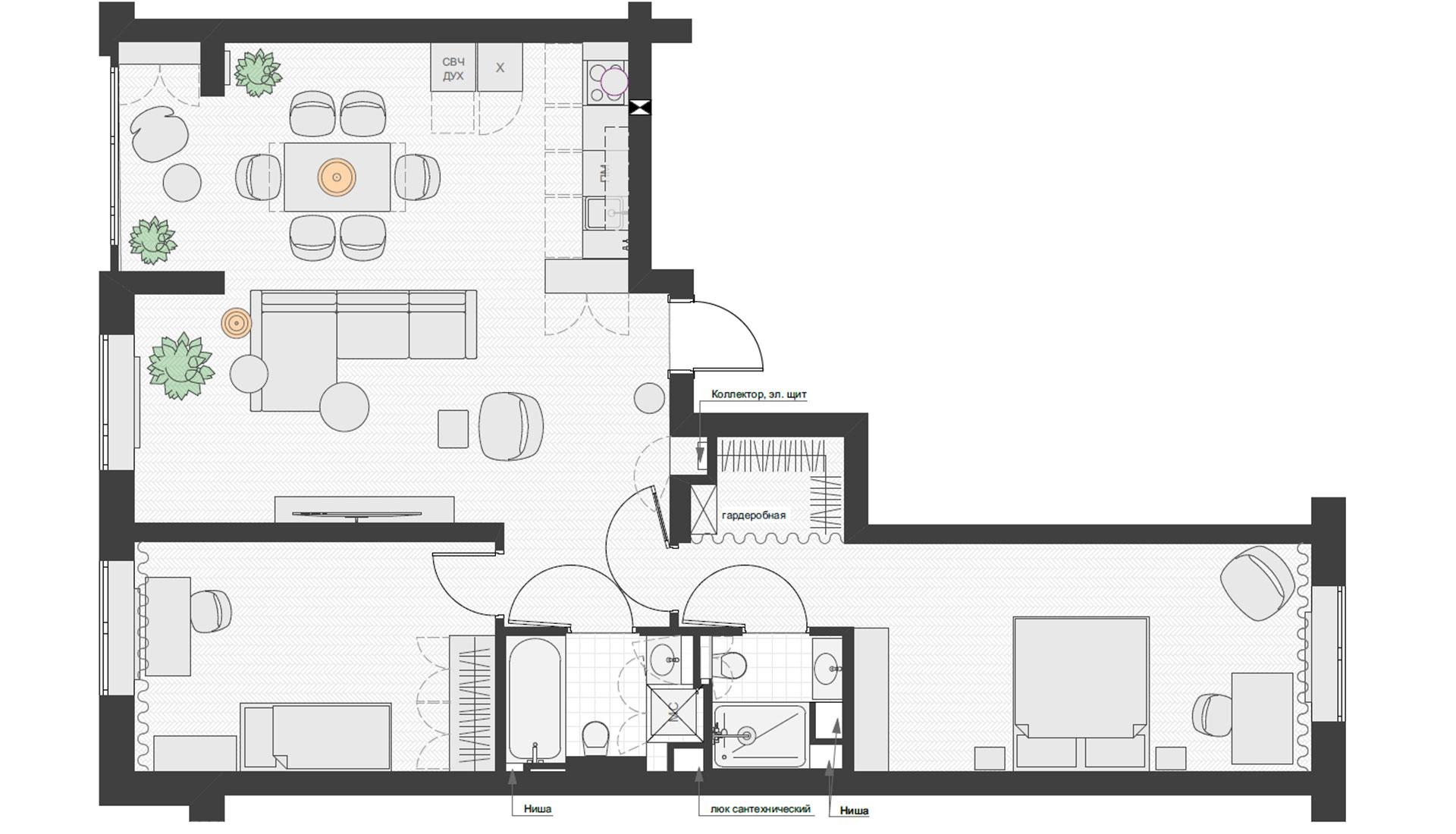 Планировка квартиры 90 кв метров фото