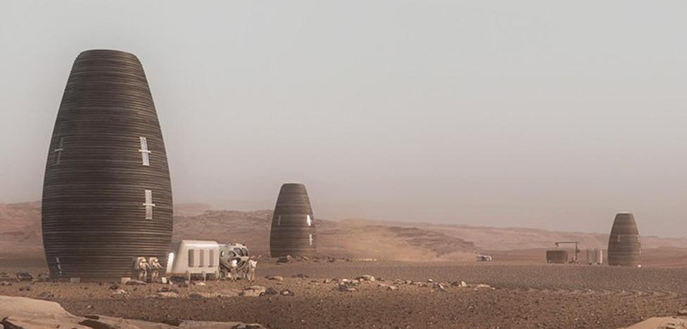 Жилье на Марсе по проекту AI. SpaceFactory