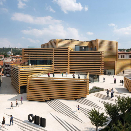 Турецкий музей по проекту японского архитектора Кенго Кумы