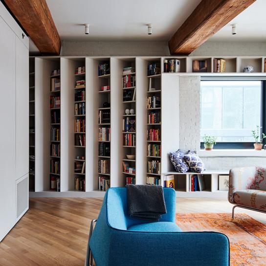 Квартира с 2500 книг по проекту Buro Koray Duman
