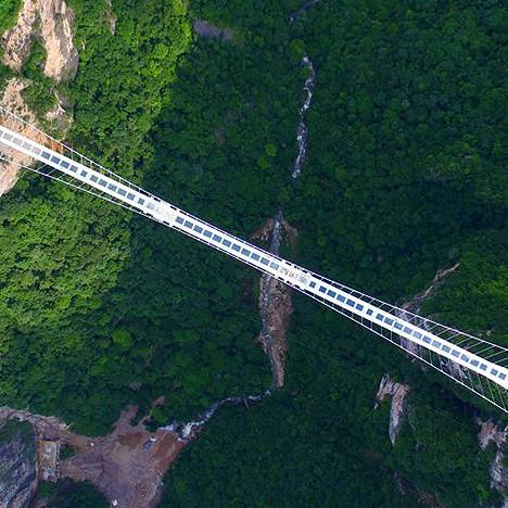 Китай: самый высокий и длинный пешеходный мост в мире