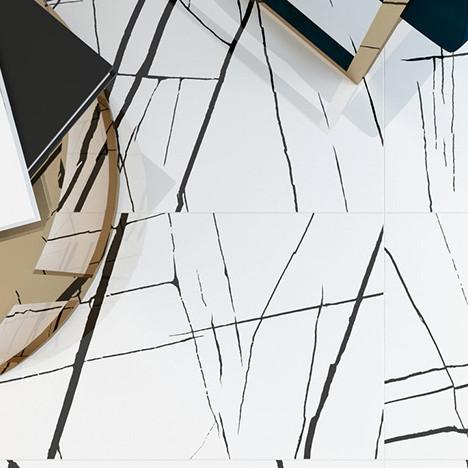 Сevisama 2018: черно-белый декор в коллекции Moonlight