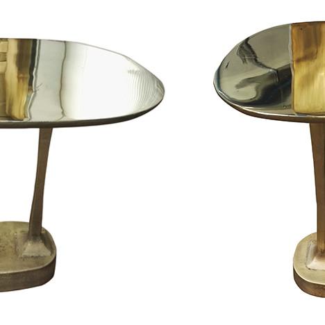 Архитекторы Yabu Pushelberg: золотые столики для Henge