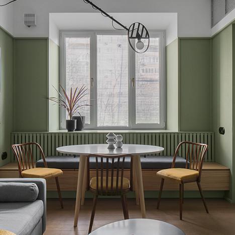 PROforma: гостиная и кухня для творческой семьи