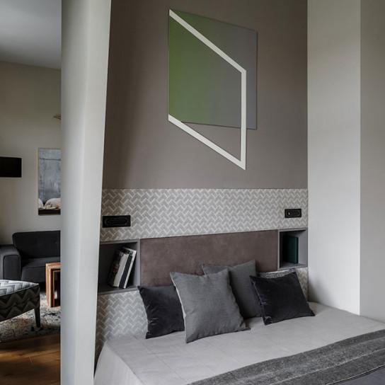 Квартира-студия: нью-нордик по проекту Studio 8