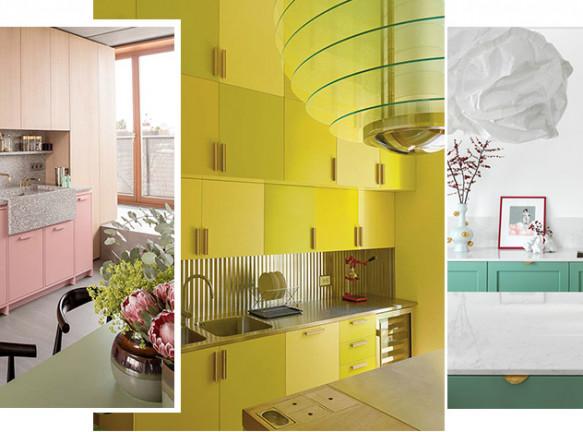 Цветная кухня: 50 красочных решений