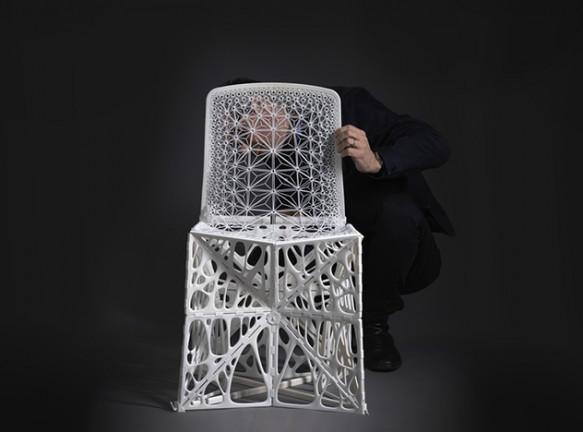 Патрик Жуан: складной стул, напечатанный на принтере