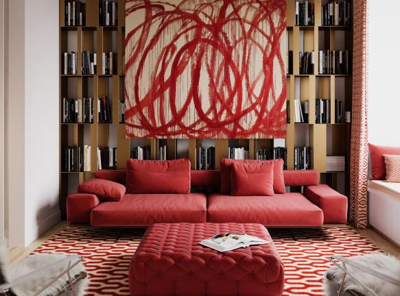 Axis Mundi: квартира с роскошным современным искусством и дизайном