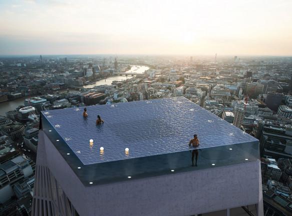 Бассейн на крыше в Лондоне