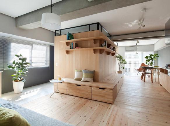 Квартира по проекту Sinato в Йокогаме