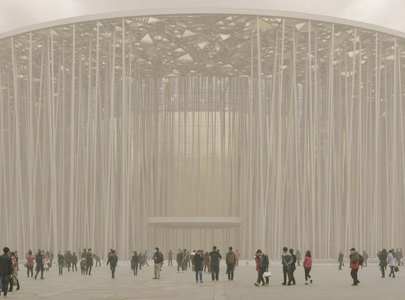 Павильон-лес по проекту Steven Chilton Architects
