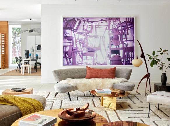 Искусство в интерьере: картины и фотографии, правила развески