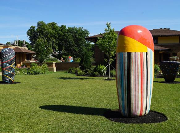 Сад японской скульптуры на вилле Фрэнка Ллойда Райта