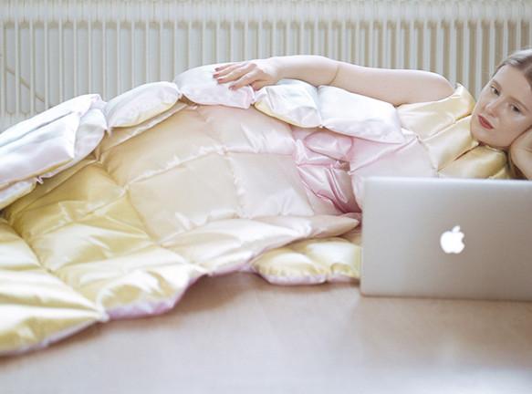 Платье-одеяло в проекте Санты Купча