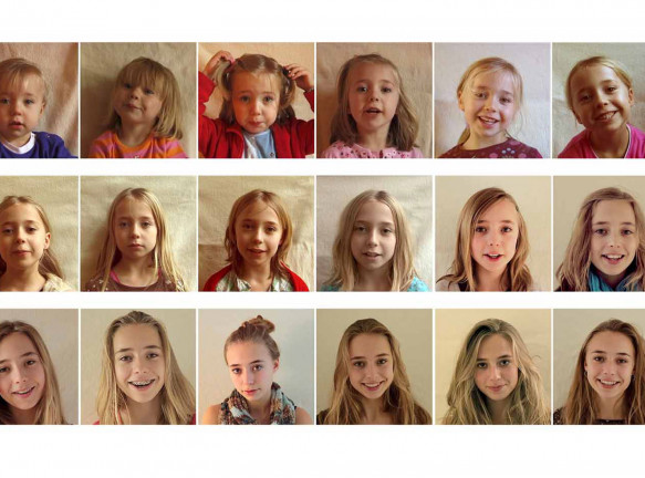 Франц Хофмеестер: портрет дочери за 20 лет