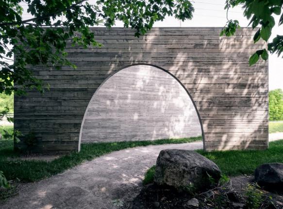 Бетонный павильон Луки Фортина