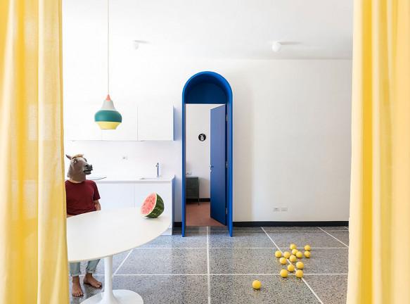 La Macchina Studio: ретрофутуризм в римской квартире