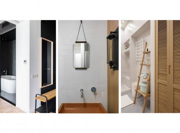 Санузел в маленькой квартире: 5 примеров с планировками
