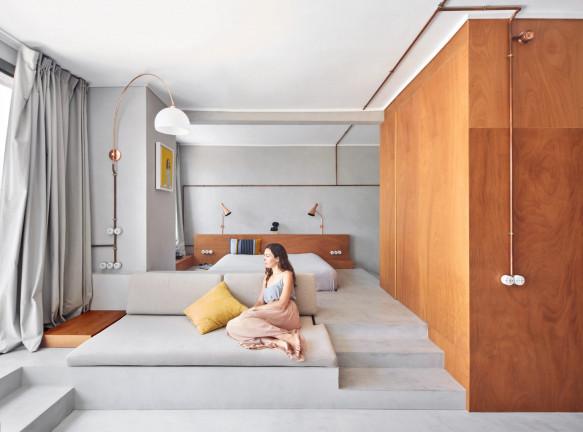 Cometa Architects: маленькая квартира в доме у причала
