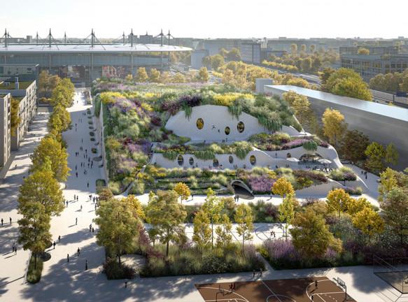 Центр водных видов спорта для Олимпийских игр 2024 года в Париже. Проект MVRDV