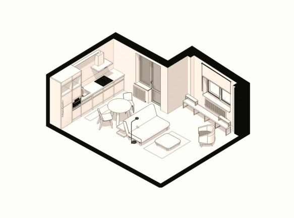 Маленькая гостиная: 5 решений с планировками