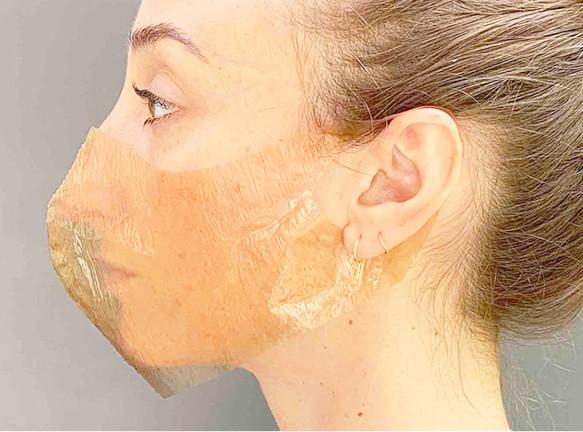 Защитная маска, выращенная бактериями по проекту Sum Studio