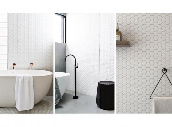 Белая плитка в интерьере ванной комнаты: 50 примеров