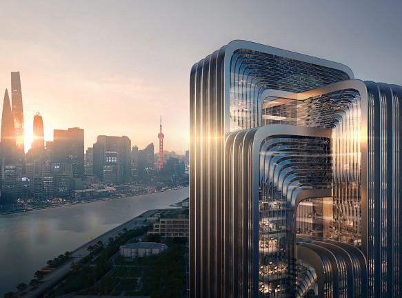 Zaha Hadid Architects построят самое экологичное здание в Шанхае