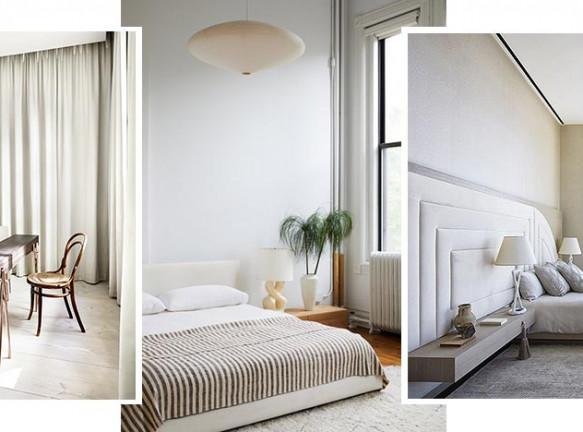 Белая спальня: 50 вдохновляющих примеров