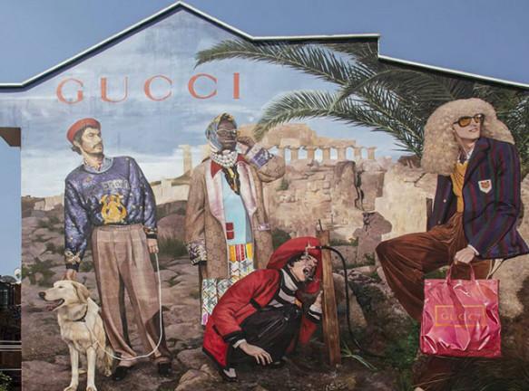 Муралы для рекламной кампании Gucci
