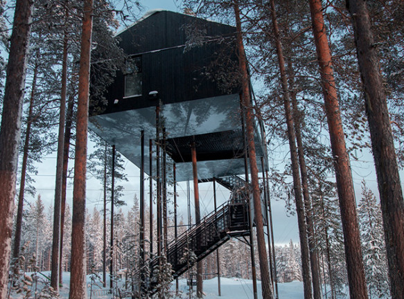 Snøhetta: отель на дереве