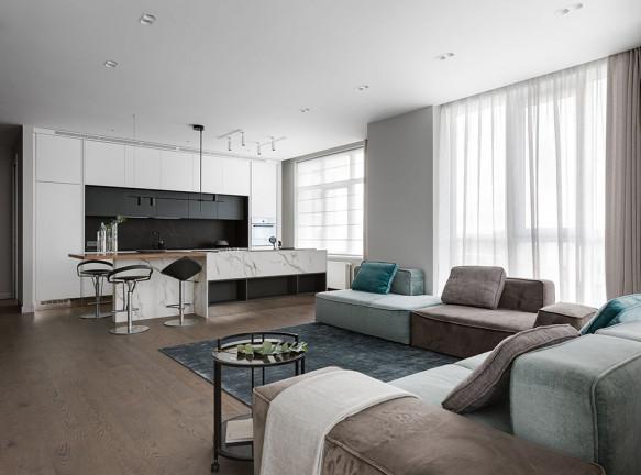 V. Concept studio: спокойная квартира в Киеве