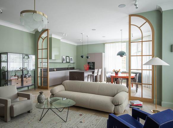 Agnes Rudzite Interiors: квартира в Ригe c иконами дизайна
