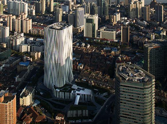Кенго Кума (Kengo Kuma) и плиссированный небоскреб в Шанхае
