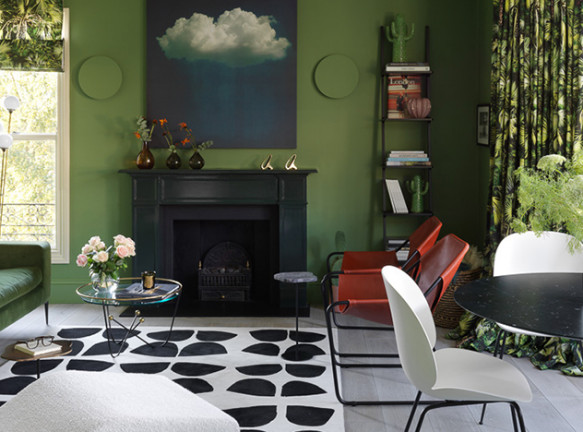 Наталья Маслова: зеленая квартира в Лондоне