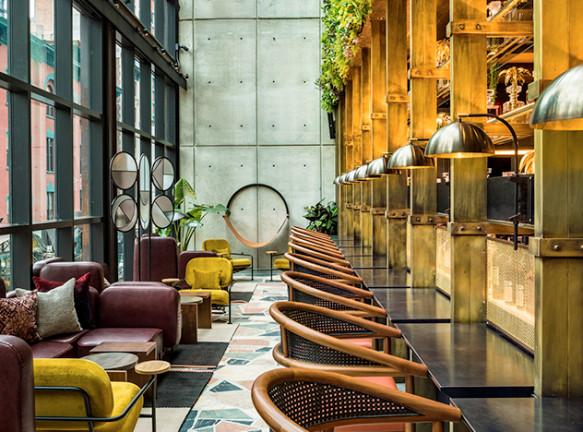 Yabu Pushelberg и Rockwell Group: отель Moxy в Челси