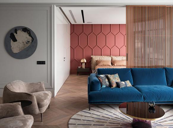 OM-Architecture: квартира с яркой спальней в Киеве