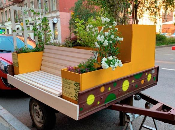 Мини-парк на колесах в Санкт-Петербурге
