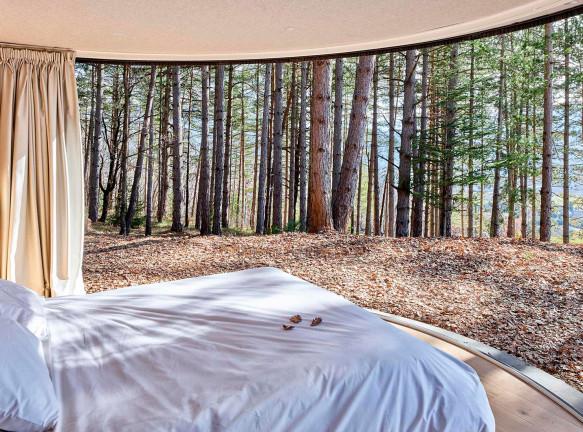 Спальня в альпийском лесу