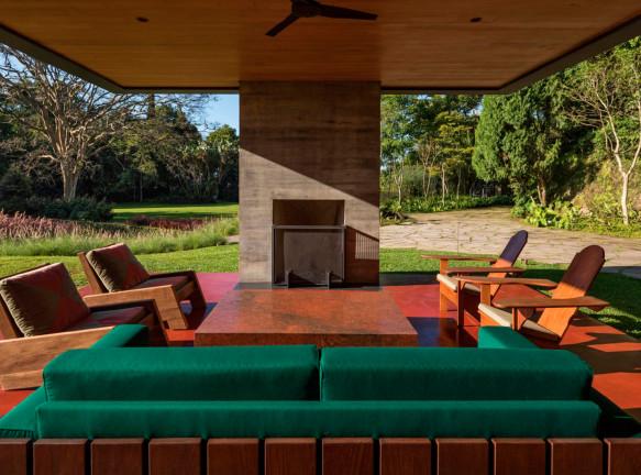 Дом в лесу по проекту Olson Kundig Architects