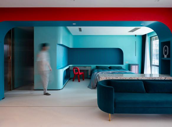 Яркая цветная квартира для юриста в Шанхае