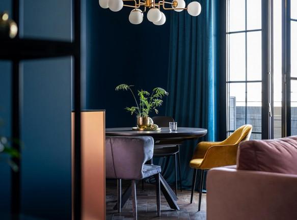 Maly Krasota Design: синяя квартира в центре Киева
